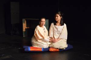 Eloisa Cardona as Mother with Tomoko Saito as Choi in The Gate.