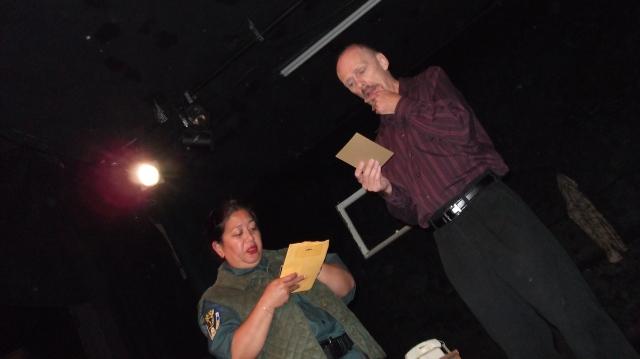 AEA Member Consuelo Aduviso with Michael Oaks.