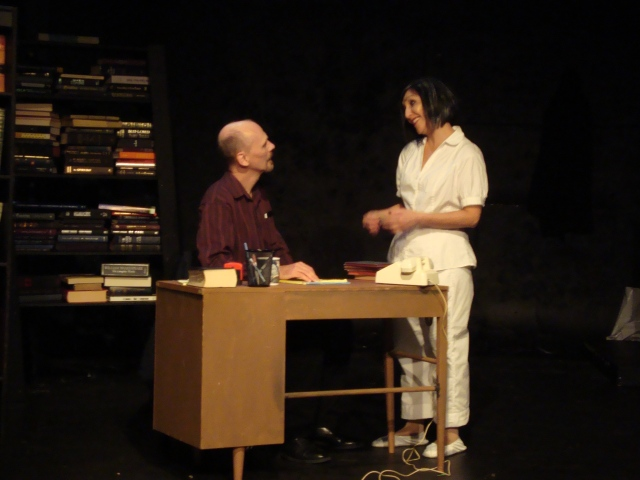 Michael Oaks and AEA Member Christina Naficy in a scene from Winter Bird.