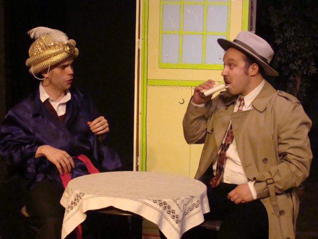 Jared Holloway-Thomas and Nick Mathews in a scene from Private Cocktails.
